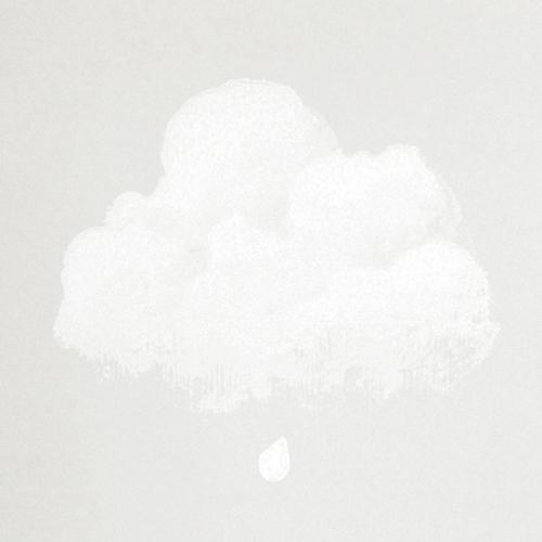 Détail papier Peint nuages de coton gris petit matin l| ©Bartsch