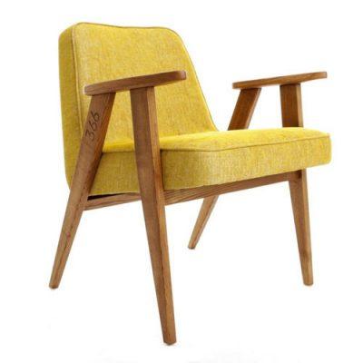 Fauteuil Loft jaune moutarde | ©366 Concept