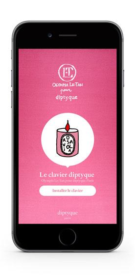 Emoji diptyque par Olympia Le-Tan