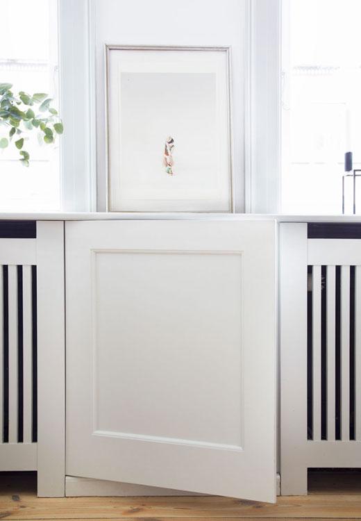 Cache radiateur - Stylisme Julie Lowenstein / Photographie Anitta Behrendt pour Bolig Magazine