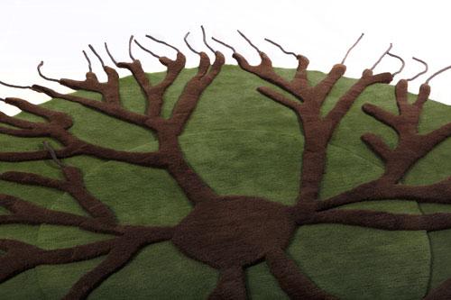 Tapis Roots - détail ©Matali Crasset pour Nodus Rug