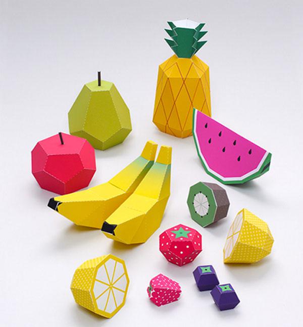 Paper Fruit | ©Mr Printable