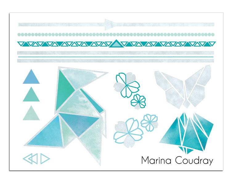 Mini Silver Origami Marina Coudray | Sioou