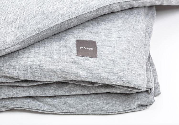 parure de lit gris chiné @mokee