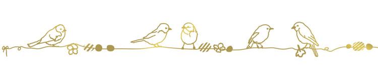 Frise Oiseau doré| ©Mimi'Lou