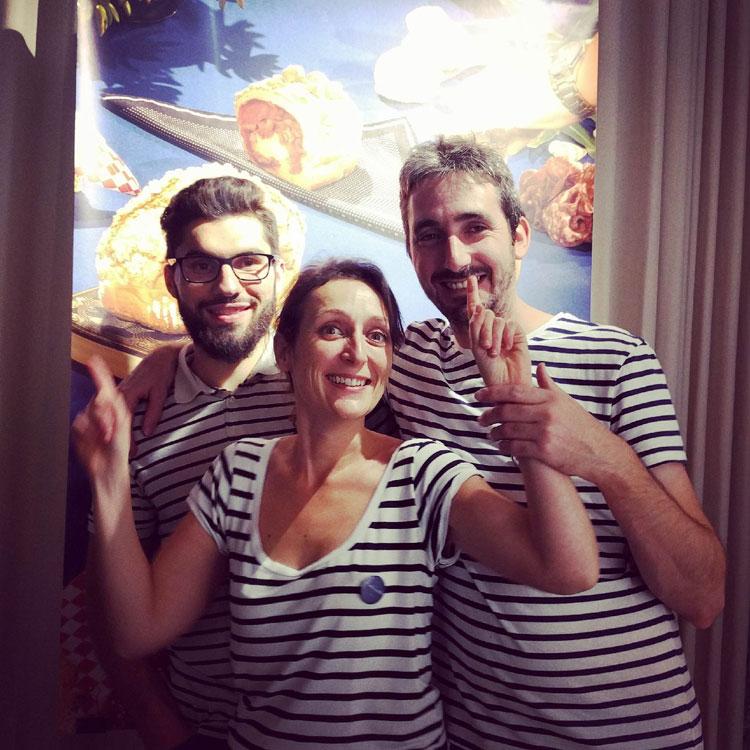 Damien, Agathe et Cédric | ©Antoinette Pain & Brioche