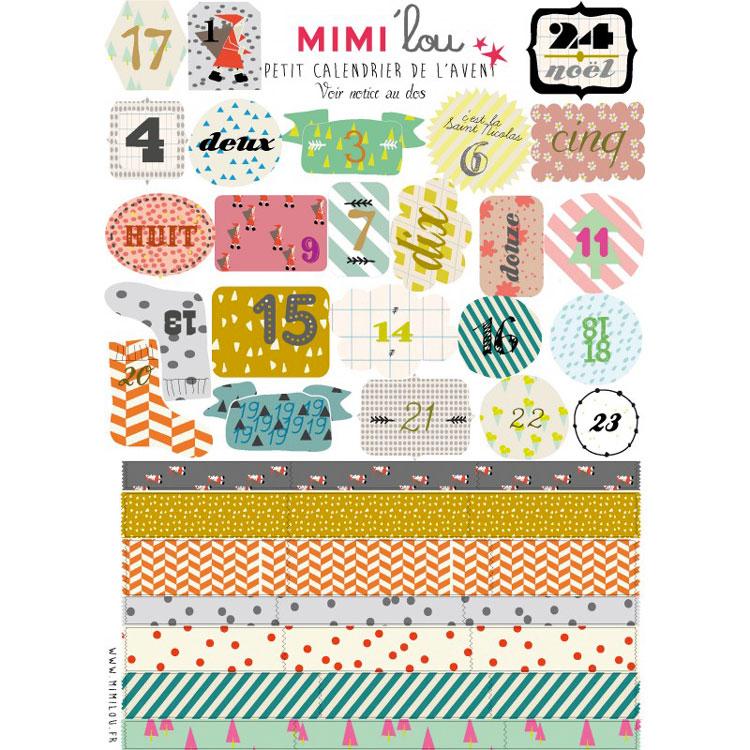 le kit Calendrier de l'Avent Mimi'Lou