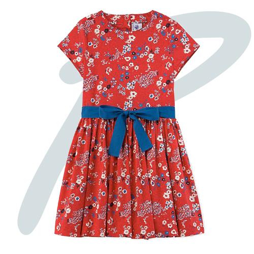 robe-rouge-fleurs-petit-bateau-