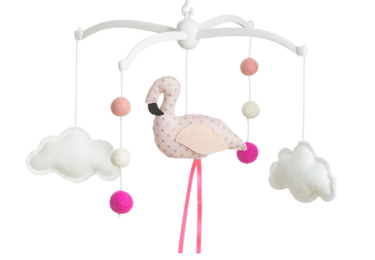 mobile Flamant Rose pastel | ©Pouse & Lina