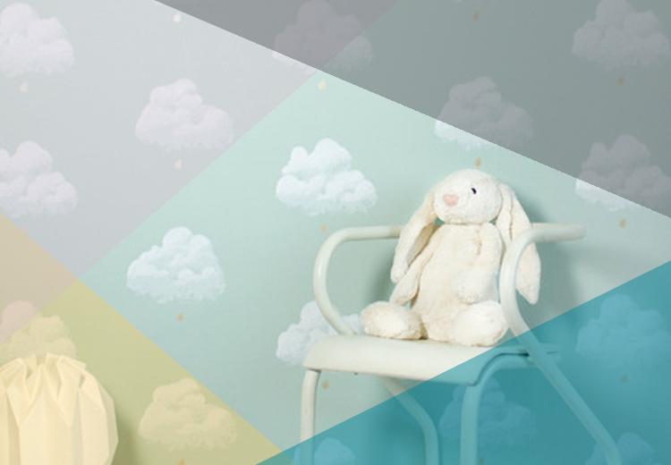 Papier Peint nuages de coton vert d'eau | ©Bartsch